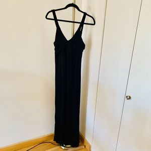 Dresses & Skirts - Black Maxi Dress with Braided Straps